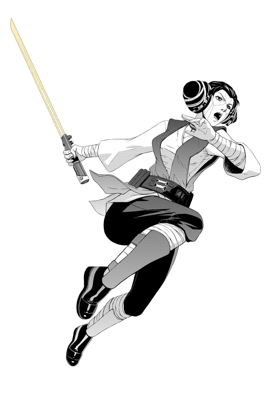 Star Wars Jedi Mavra Zane by Aliens-of-Star-Wars