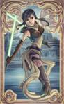Star Wars Jedi Serra Keto Art Nouveau