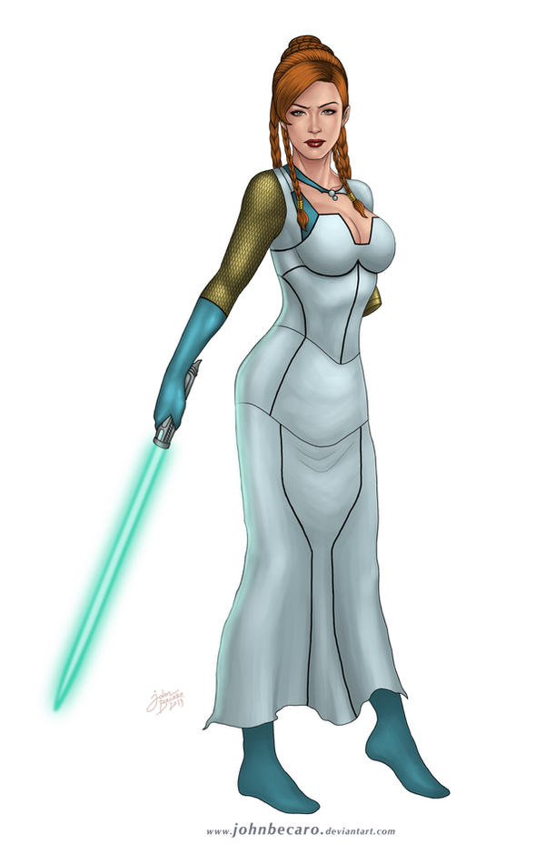 Star Wars Queen Mother Tenel Ka by John Becaro by Aliens-of-Star-Wars