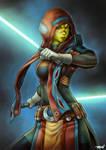 SWTOR Mirialan Jedi by Runshin