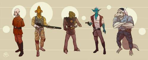 Star Wars Alien Lineup N-r by Ryan Rhodes