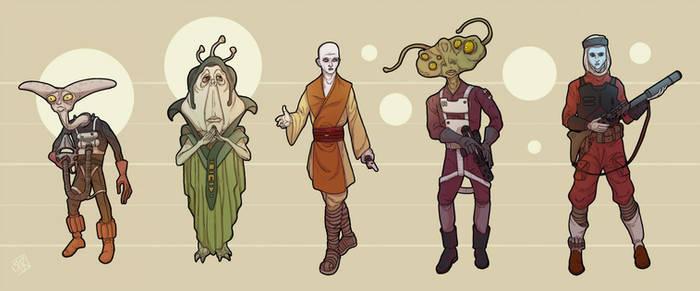 Star Wars Alien Lineup S-w by Ryan Rhodes