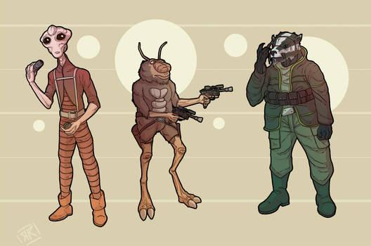 Star Wars Alien Lineup X-z by Ryan Rhodes