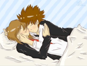 Tsuna and Basil - Commission by LinksLover4ever