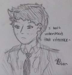 Castiel doodle by LinksLover4ever