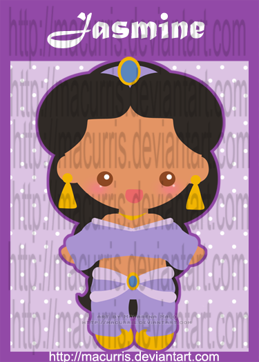 "[Images] ""Disney Chibis"" Chibi_Jasmine_by_macurris"