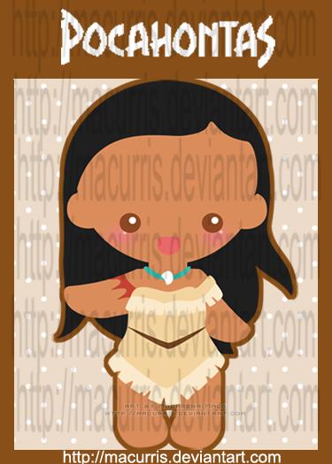 """[Images] """"Disney Chibis"""" Chibi_Pocahontas_by_macurris"""