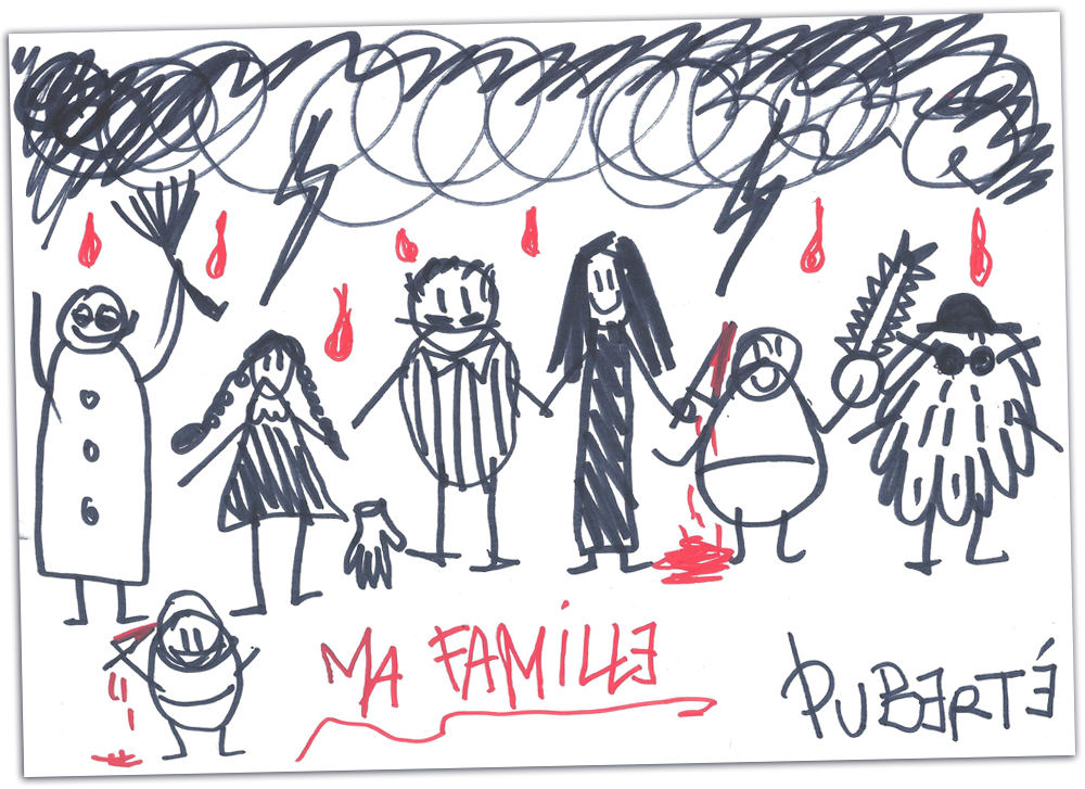 My family, by Pubert Addams by jainas