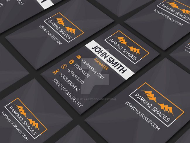 Parking-Shades-Business Card.. by Grafix-Drive
