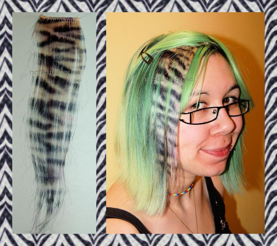 Zebra Print Hair Extensions 34