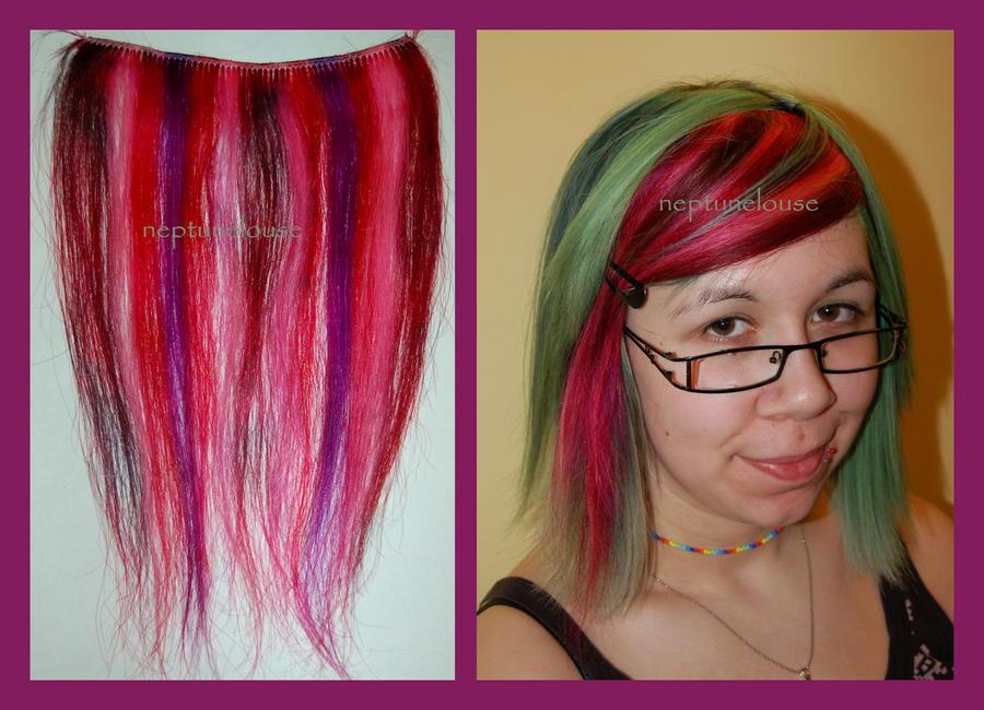 Purple Red Pink Streaks By Neptunelousehair On Deviantart