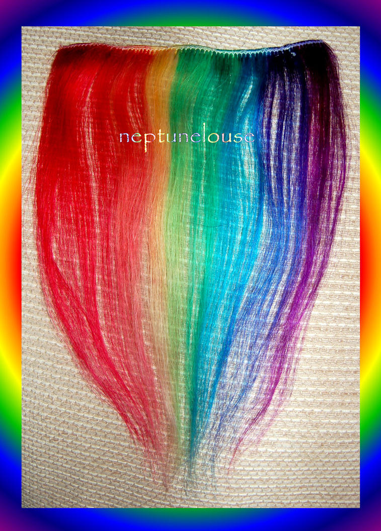 Rainbow Hair Extension 2 by neptunelousehair on DeviantArt