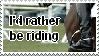 Horse riding stamp by LadyRavensknot
