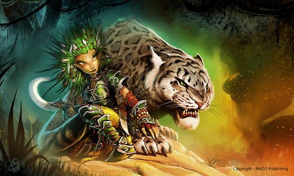 Paizo Pathfinder - Lini, Iconic Character (Fanart)