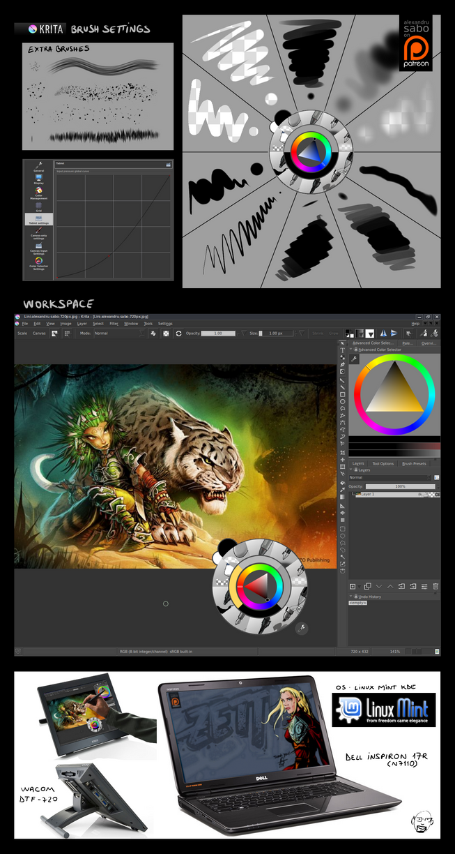 Open source workflow as illustrator concept artist by alexsabo on deviantart Open source illustrator