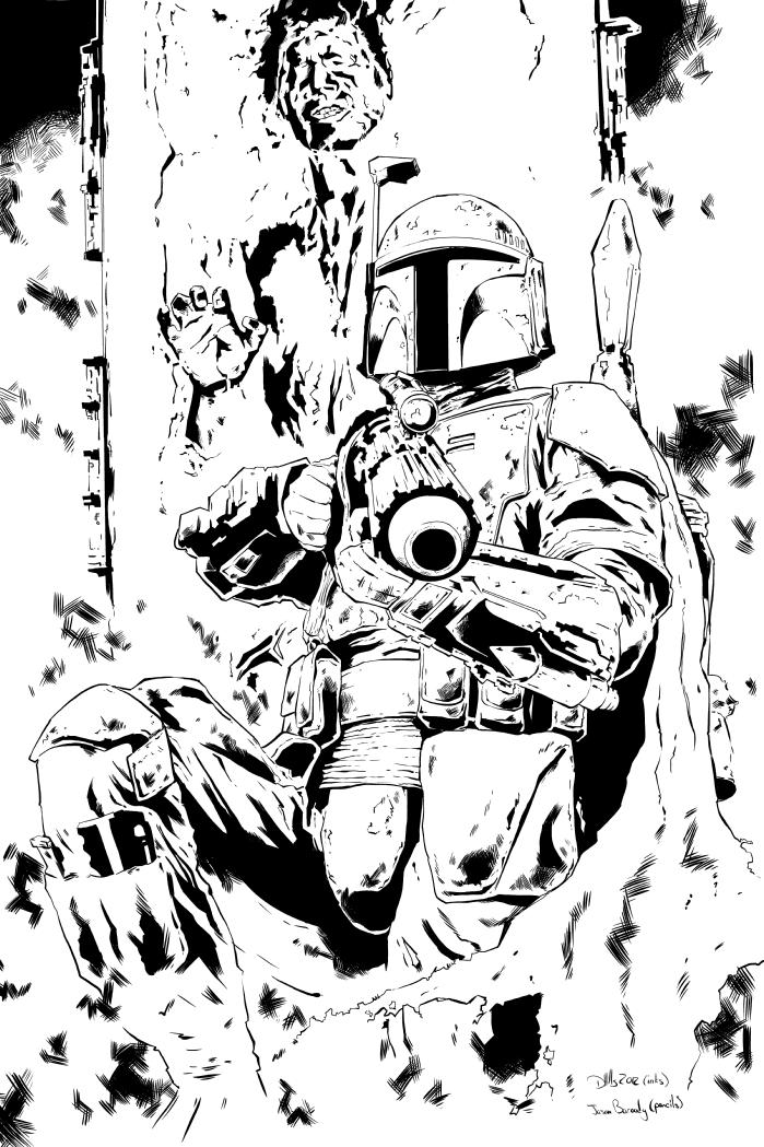 Boba Fett / Inked by Doug Hills by jasonbaroody