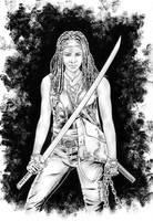 Michonne / The Walking Dead by jasonbaroody