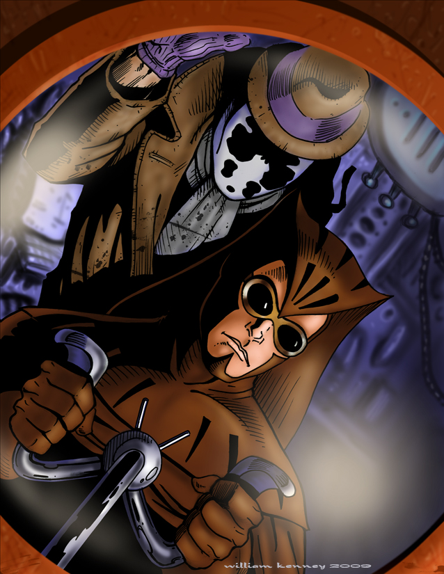 Nite Owl and Rorschach by WKenney