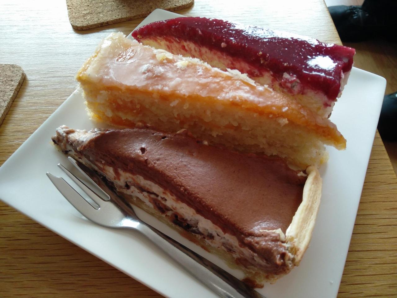 Triple birthday cake