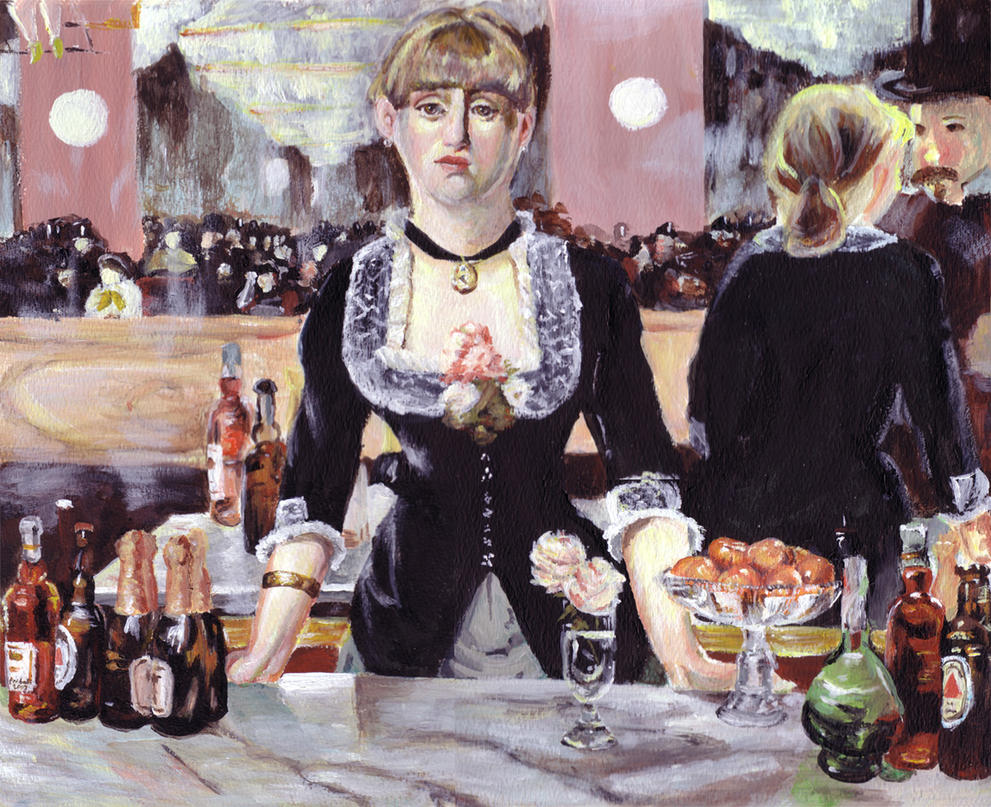 The Folies Bergère  wellknown painting A Bar at the FoliesBergère which depicts  Clifford C Fischer staged several Folies Bergere productions in the