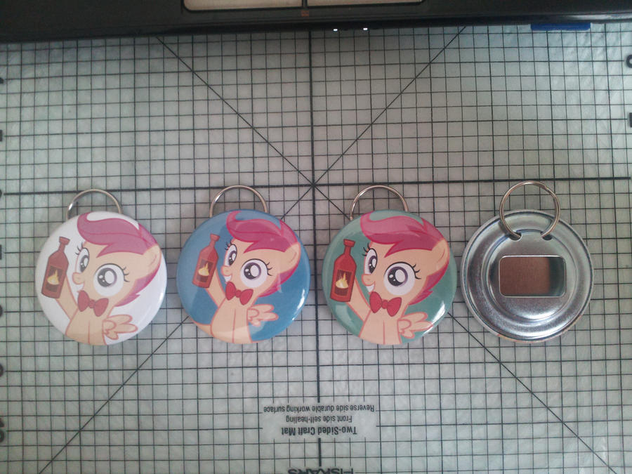 ScootaCheer Bottle Openers by sparklepeep