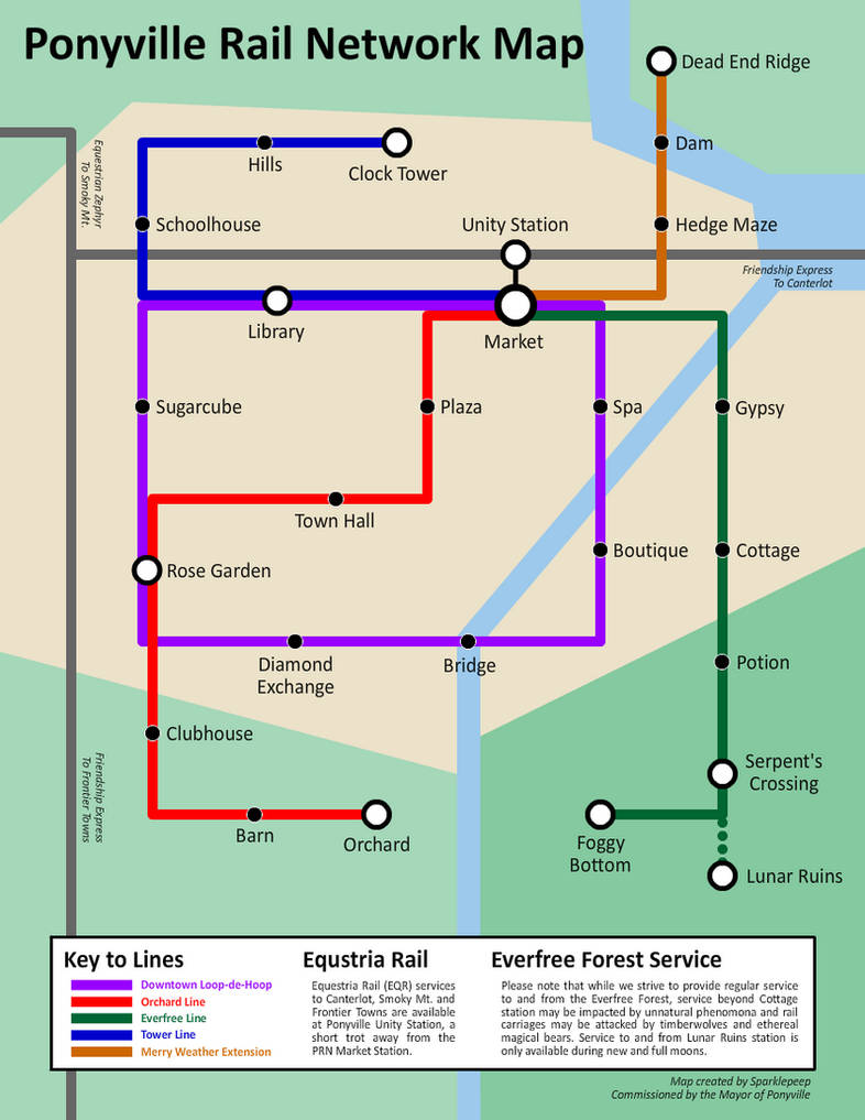 Subway Map Downtown.Ponyville Rail Services Subway Map By Sparklepeep On Deviantart