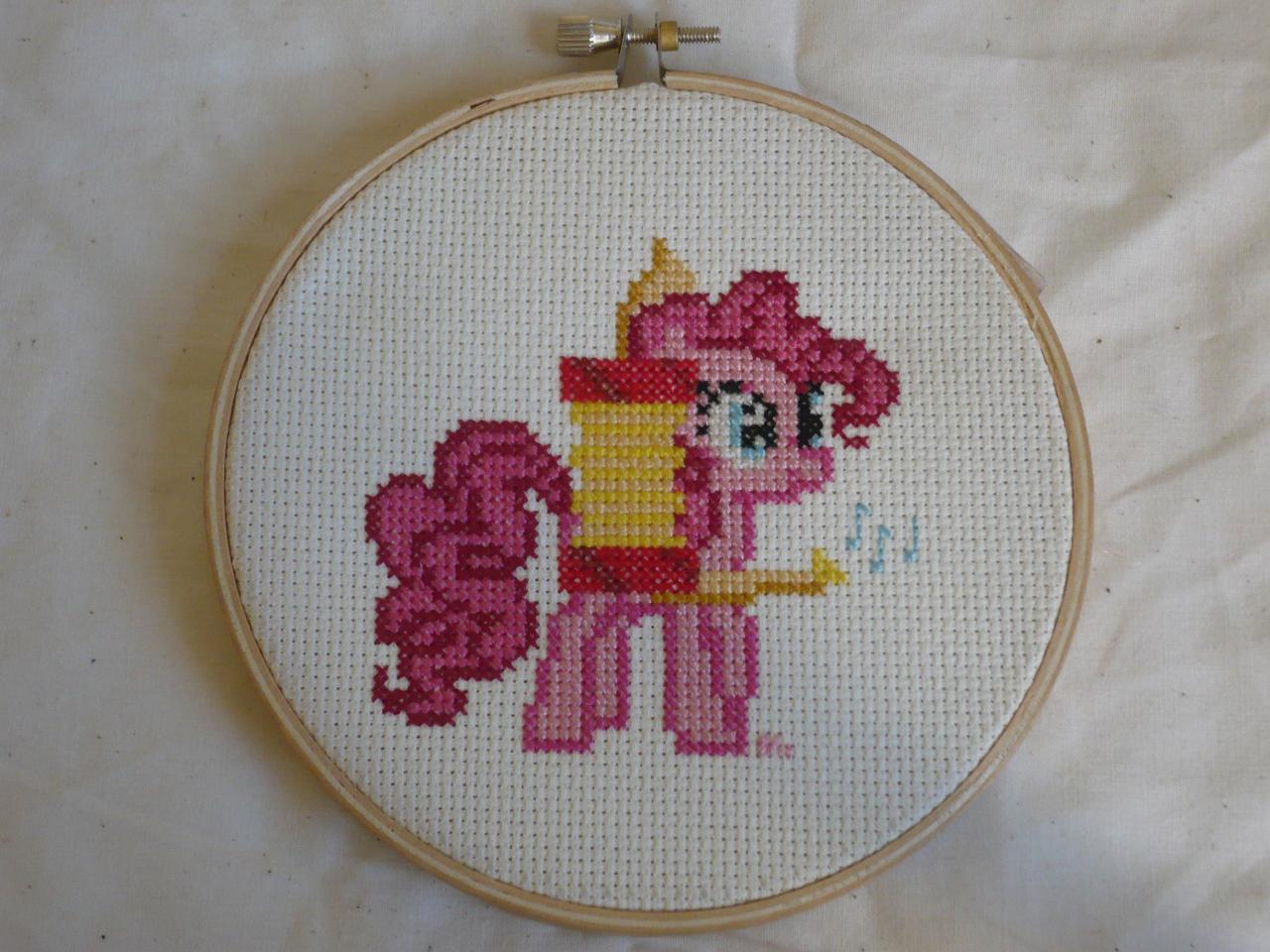 Pinkie Pie One Pony Band Cross Stitch by sparklepeep
