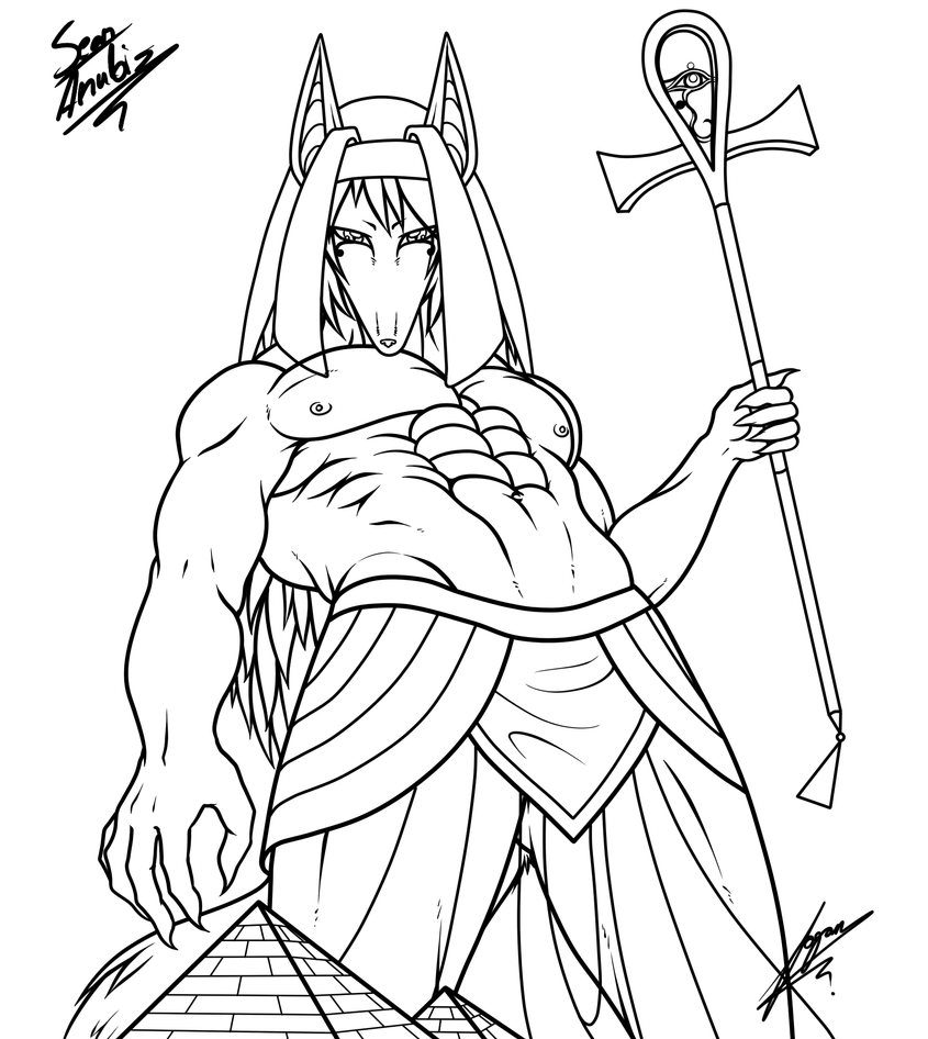 Anubis Pages Coloring Pages