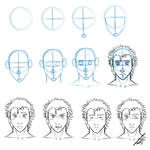 Simple Front View Face Drawing Tutorial
