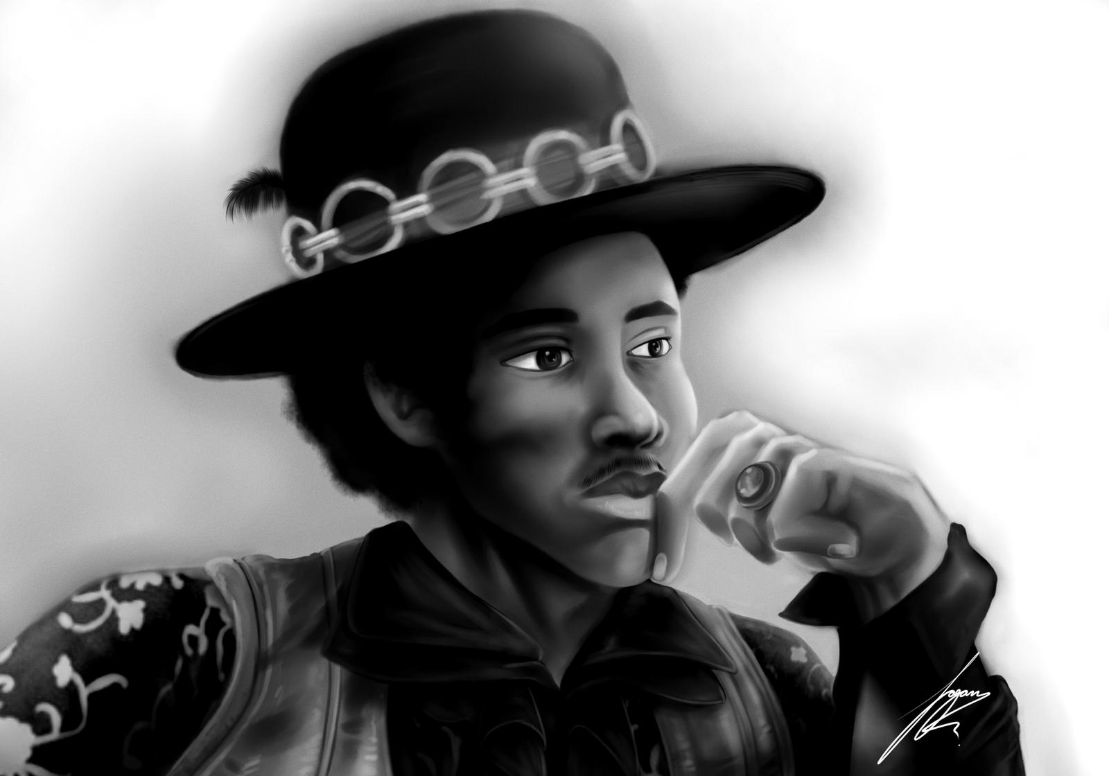 Ole Jimi Portrait by Juacamo