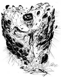 The Incredible Hulk by Darebegins