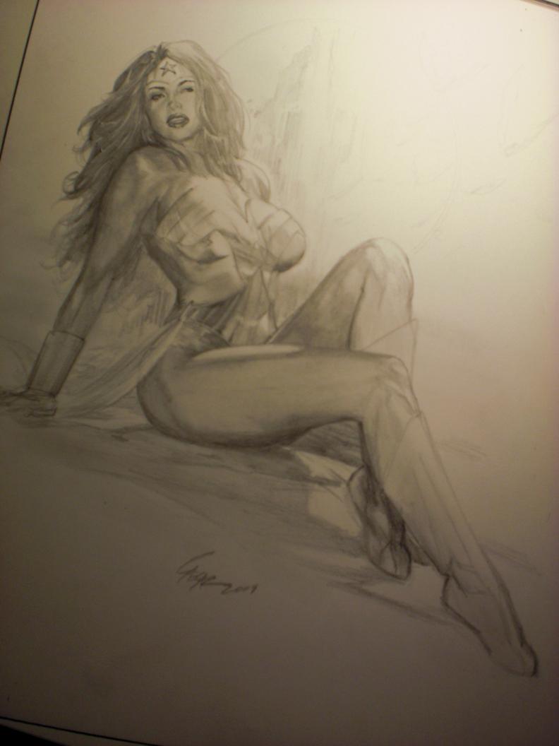 Wonder Woman prelim by Darebegins