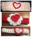 Valentines day headbands by asexualgoddess