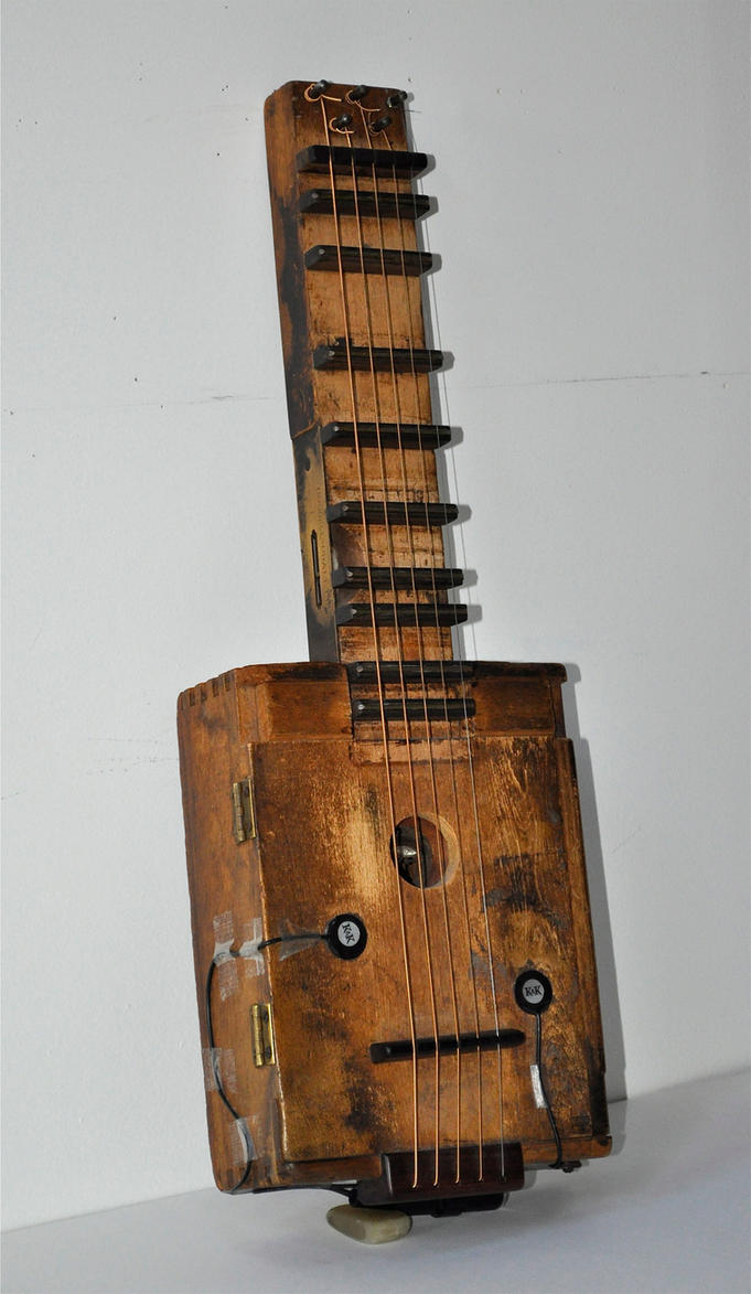 Whiskey Stick Box Guitar by MariosKerpen