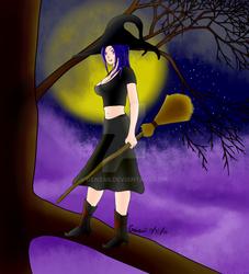Halloween Tree Witch
