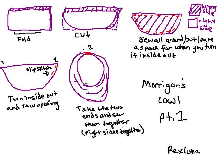 Morrigan Cowl Tutorial Part 1 by Rexluna