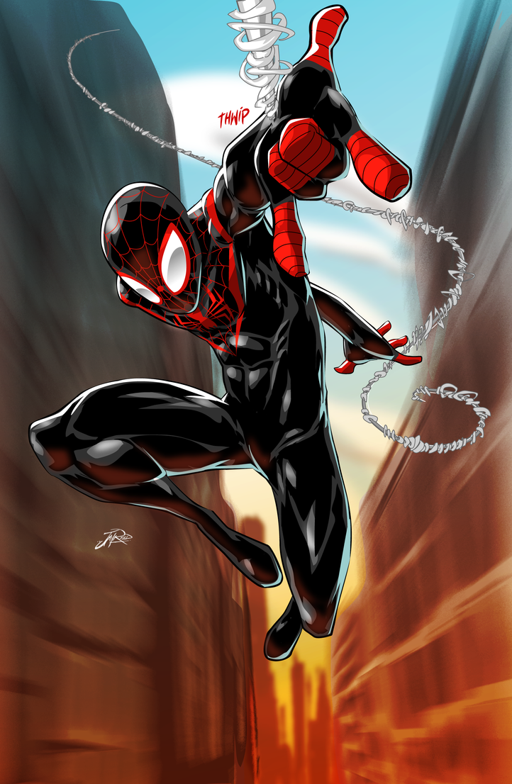 spiderman coloring pages miles morales - photo#34