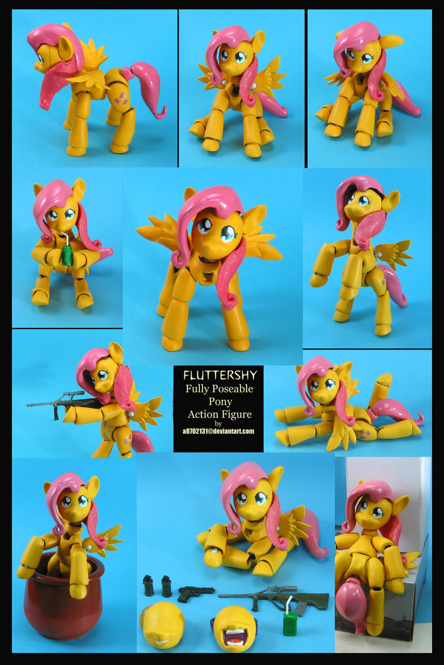 Fluttershy Action Figure by a8702131
