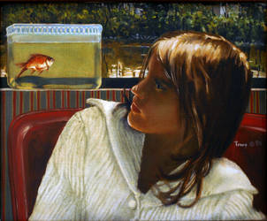 Girl with Goldfish II by hank1