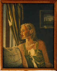 Linda at the Window by hank1