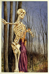 Girl with Christ Skeleton by hank1