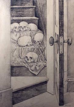 Skulls on Staircase