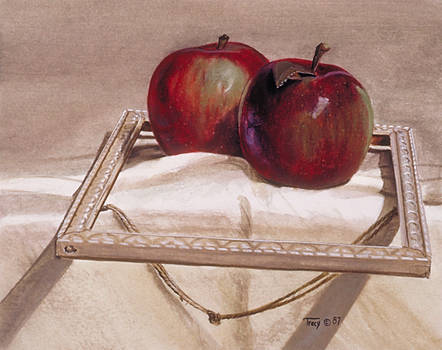 Apples in an Old Frame