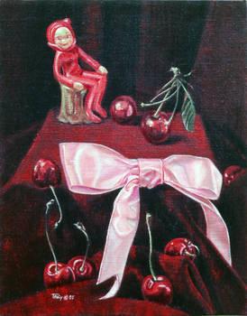 Still Life with Devil Figurine