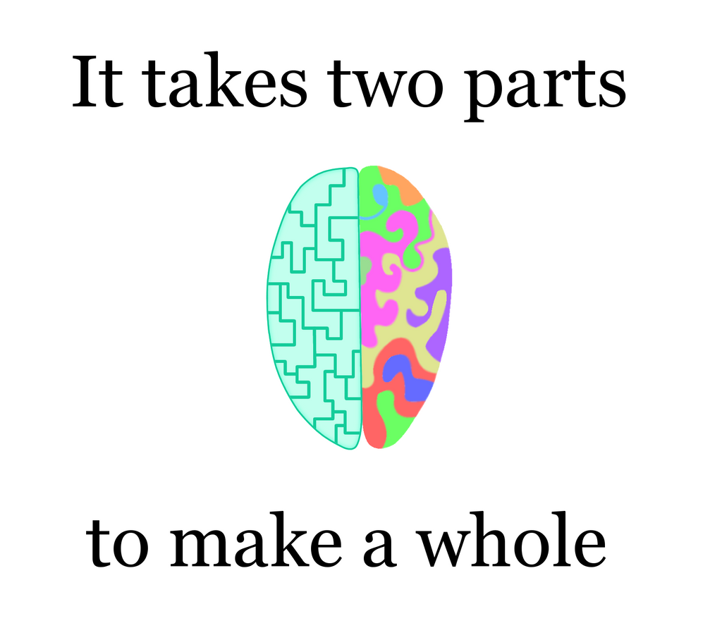 Image result for two parts make a whole