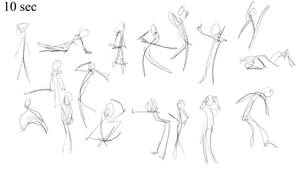 10 Seconds gesture practise