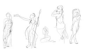 Gesture drawing practise