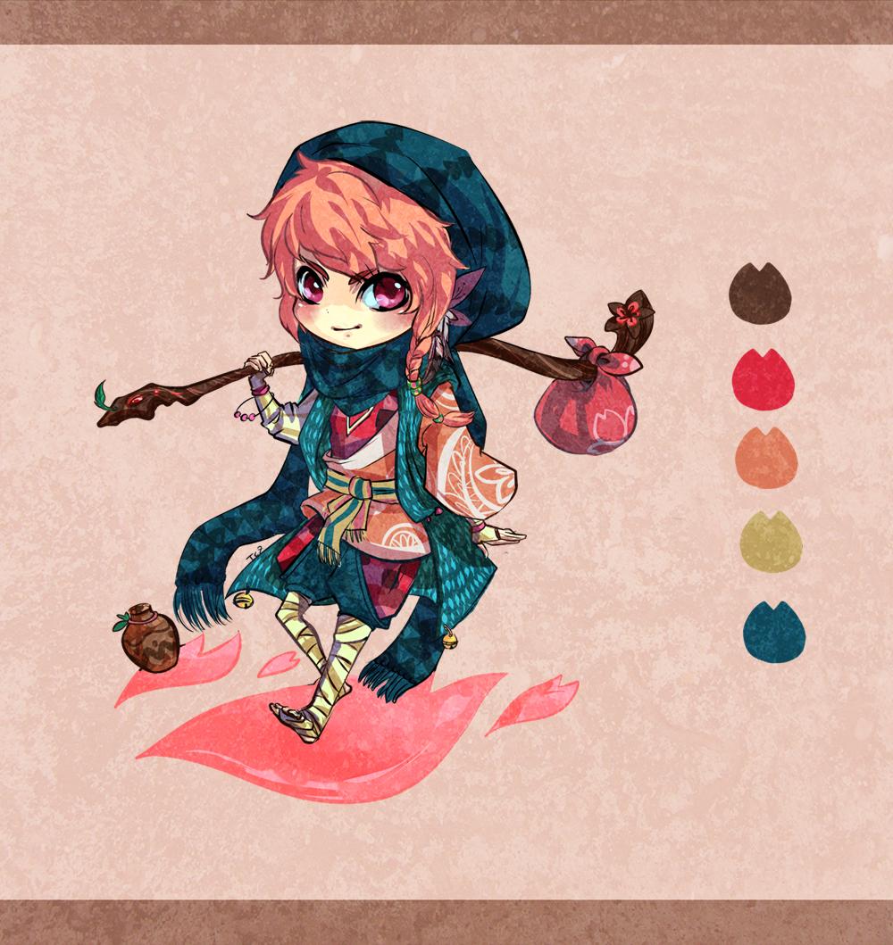 Custom Adopt: Nomadic Sakura Pixie by Pikatoro