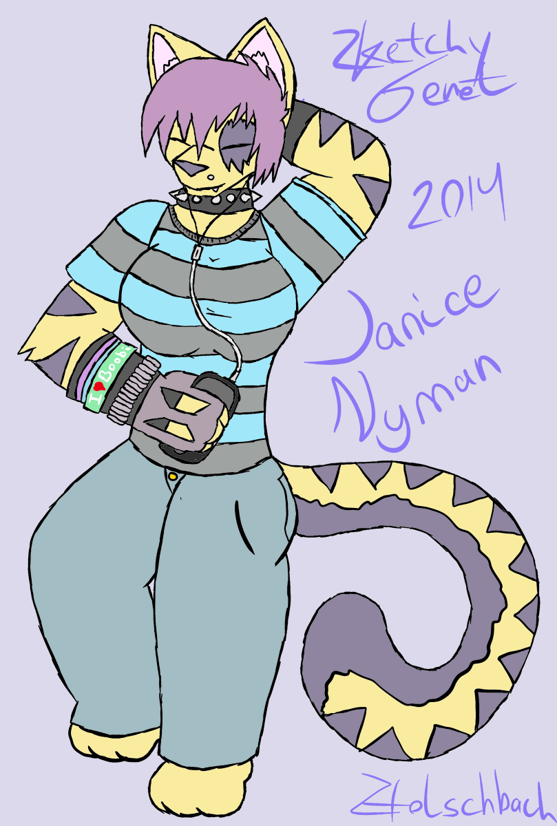 Janice Nyman Redrawn By Sketchy-Genet On DeviantArt