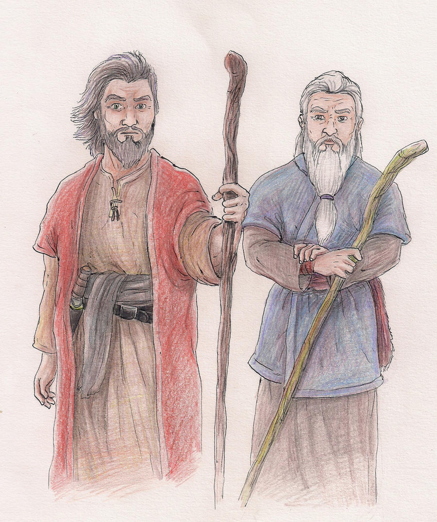 Moses and Aaron by Arauto on DeviantArt